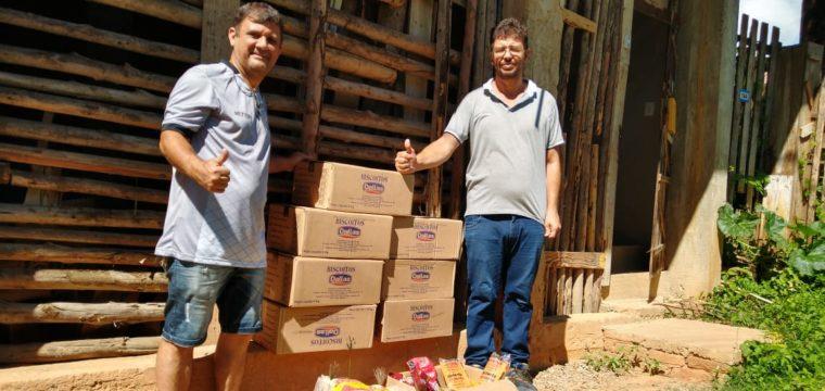 Estrela do Norte F.C faz doação de mantimentos para projetos sociais