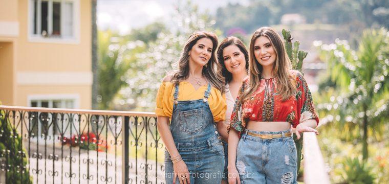 Solangela e as filhas Bruna e Bianca