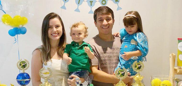 Laís Ervatti, Leandro Grafanassi, Lara e Vitor
