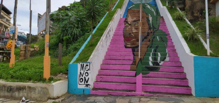 Escadarias de Cachoeiro recebem melhorias e intervenções artísticas