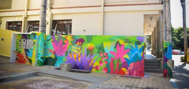 Novas intervenções artísticas colorem áreas públicas de Cachoeiro