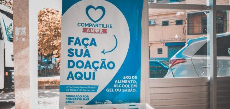 """Campanha """"Compartilhe Amor"""" arrecada 660 kg de alimentos nos primeiros dias"""