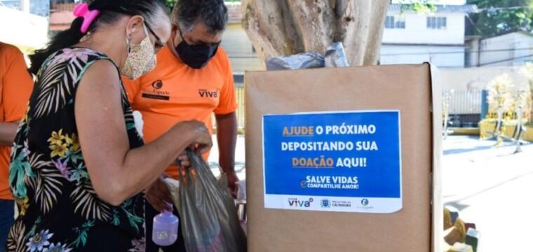 Ação solidária arrecadou cerca de 600 quilos de alimentos