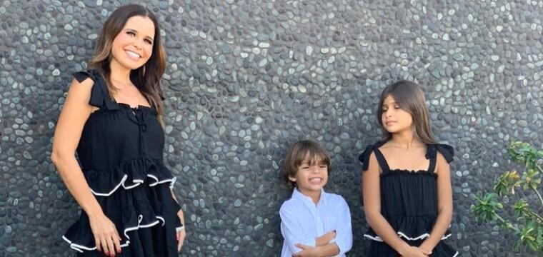 Empresária Andrea Cola ao lado dos herdeiros