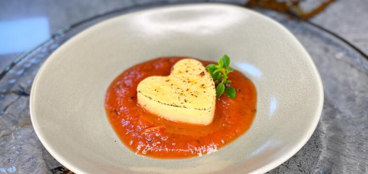 Polenta ao Molho de Tomate