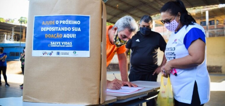 Ação arrecada alimentos no bairro Gilberto Machado nesta sexta (11)