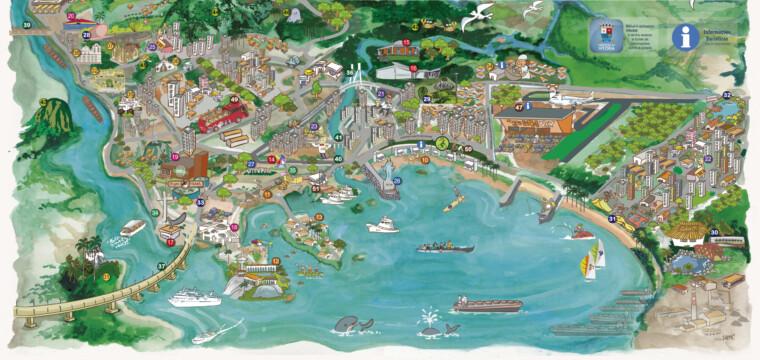 Visitantes podem chegar a cidade por vias aérea, marítima, rodoviária e ferroviária