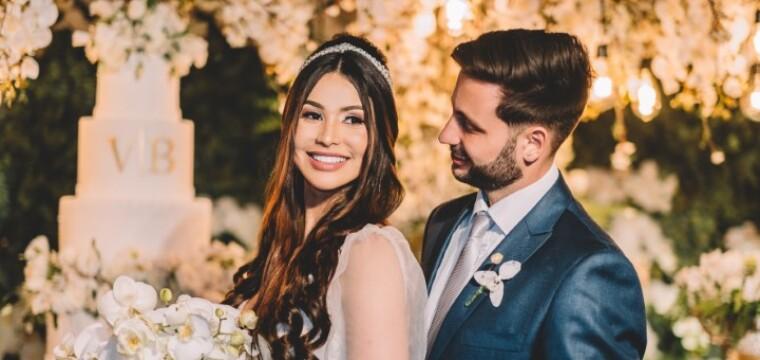 Os belos noivos Viviane Gomes de Souza e Breno Freitas Borges