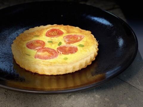 Quiche de Tomate Cereja